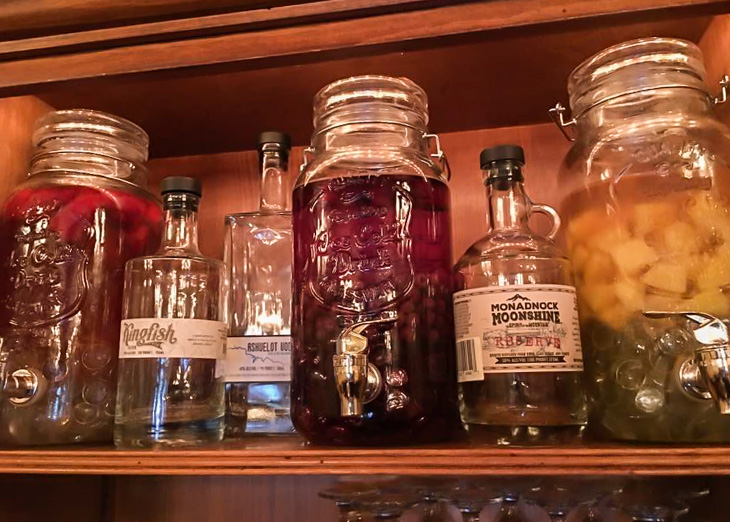 Infused spirits are the new trend at Luca's Mediteranean Cafe for summer.