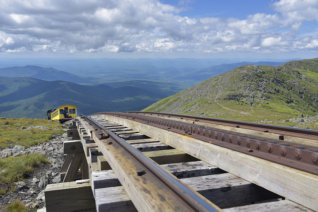 The Mount Washington Cog Railway provides a backdrop of breathtaking views for an unforgettable train ride.