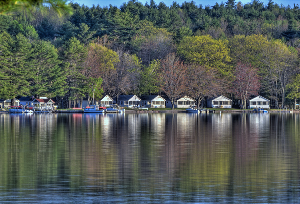 Ames Farm Inn has cottages so guests can understand the essence of lake-life.