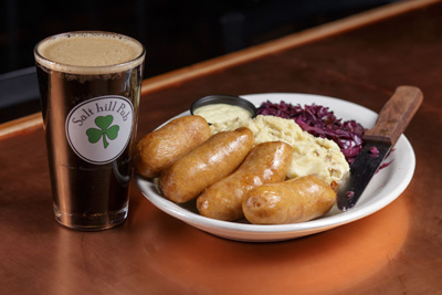 Bangers and Mash from Salt hill Pub
