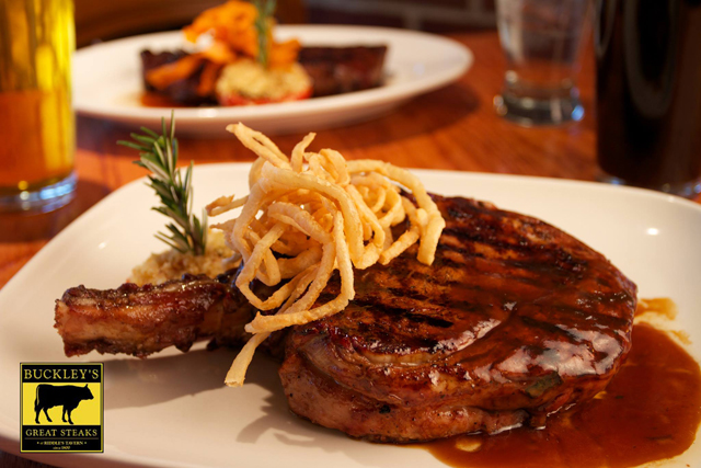 Buckley's Great Steaks is known for their house-aged char-grilled steaks.