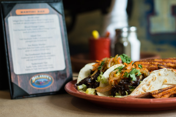 Tasty short rib tacos at Delaney's Hole in the Wall in North Conway, NH.