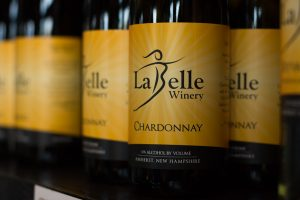 LaBelle Winery Chardonnay, produced in Amherst, New Hampshire.