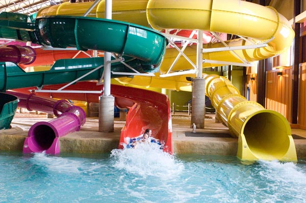 Kids won't want to spend Thanksgiving anywhere else after staying at Red Jacket Resorts, home to Kahuna Laguna, New Hampshire's largest indoor water park.