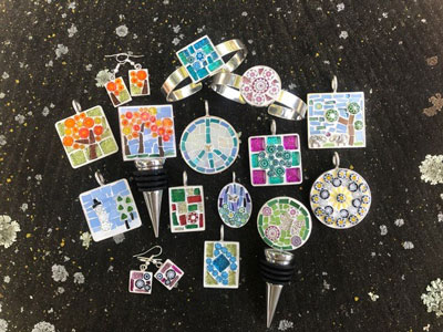 Have fun crafting your own mosaic jewelry at LaBelle Winery & Bistro in Amherst, NH.