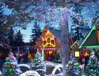 11 Ways to Make December Merry & Bright | Visit Santa's Village, decked out in over 500,000 Christmas lights, for a hearty dose of holiday cheer.