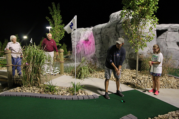 Try your luck at the longest mini-golf hole on the planet at Chuckster's Family Fun Park in Chichester, NH.