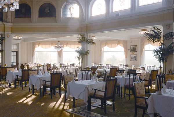 Visit the Omni Mount Washington Resort and find grand ballrooms and lavish decor.